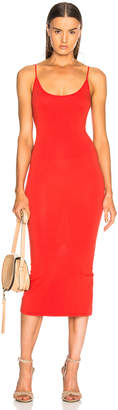 Enza Costa Jersey Back Slit Dress