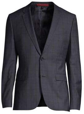 HUGO Slim-Fit Astian Plaid Suit Jacket