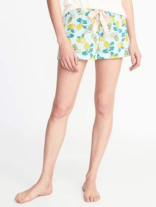 Old Navy Printed Poplin Boxers for Women