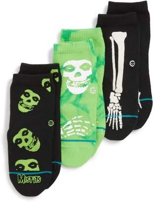 Stance 3-Pack Misfits Ankle Socks