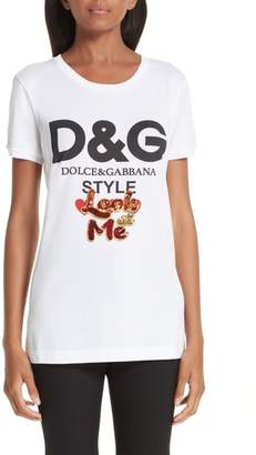 Dolce & Gabbana Look at Me Logo Tee