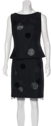 Akris Punto Wool Skirt Set
