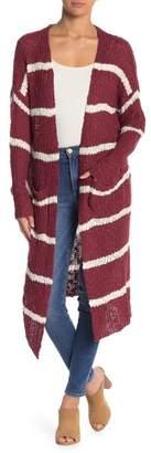 HYFVE Longline Striped Cardigan