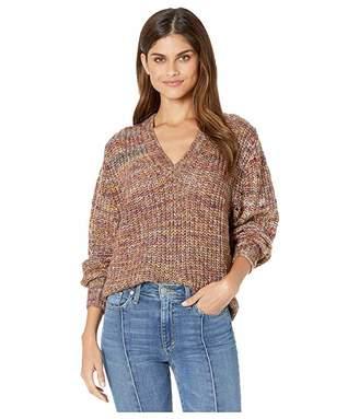 Splendid V-Neck Marled Pullover Sweater