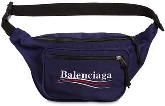 Balenciaga Political Logo Nylon Belt Pack