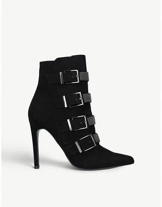 Carvela Gird buckled suedette ankle boots