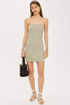 Topshop Scuba Strappy Mini Dress
