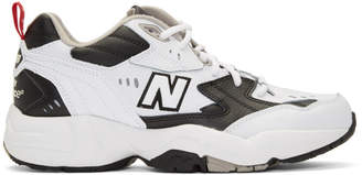 New Balance White and Black 608 Sneakers