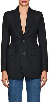 Balenciaga Women's Wool-Blend Hourglass Blazer - 1000-Black