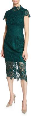 Laundry by Shelli Segal Lace High-Neck Sheath Dress