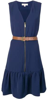 MICHAEL Michael Kors sleeveless belted dress