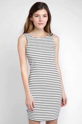 BB Dakota Striped Knit Bodycon Dress