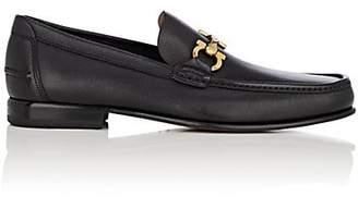 Salvatore Ferragamo Men's Fiordi Textured Leather Loafers - Black