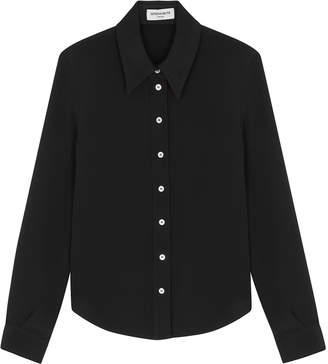 Serena Bute Serena Black Silk Crepe De Chine Shirt