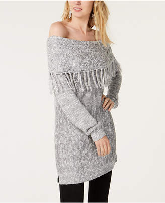 INC International Concepts I.N.C. Foldover Off-The-Shoulder Sweater, Created for Macy's