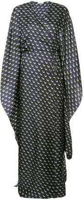 Vionnet printed maxi wrap dress