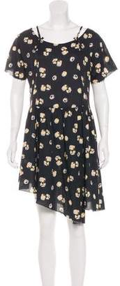 Band Of Outsiders Printed Short Sleeve Dress