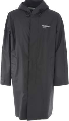 Off-White Off White Oversized Hooded Raincoat