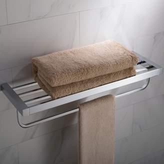 Kraus KRAUS Stelios Bathroom Shelf with Towel Bar, Chrome Finish