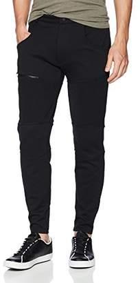 2xist Men's Mixed Media Moto Active Sweatpants
