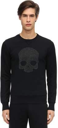 Hydrogen Embellished Ls Cotton Jersey T-shirt