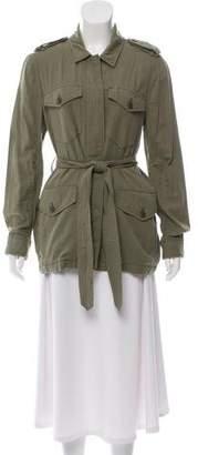 Rag & Bone Tie-Accented Lightweight Jacket