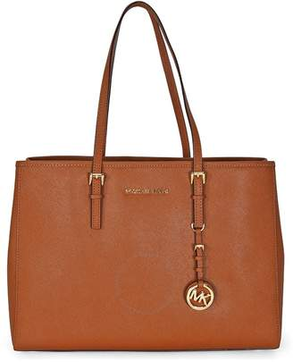 Michael Kors Open Box - Jet Set Travel Tote Large Tote in Luggage - Tan