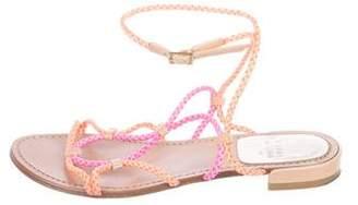Stuart Weitzman Braided Leather Sandals