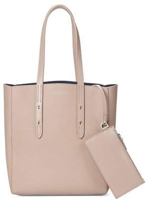 Aspinal of London Essential Tote In Soft Taupe Pebble