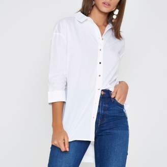 River Island Womens White tie back shirt