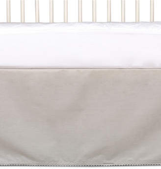 Living Textiles Lolli Living Cotton Crib Bed Skirt With Pompom Trim Bedding