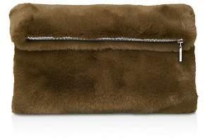 Whistles Medium Faux Fur Foldover Clutch