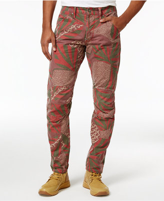 G-Star Raw Men's Slim-fit Elwood X25 African-Print Pharrell Jeans $170 thestylecure.com
