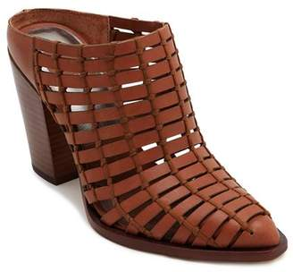 Dolce Vita Women's Kacie Caged Leather Block Heel Mules