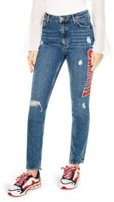Sandro Hortense Distressed Jeans