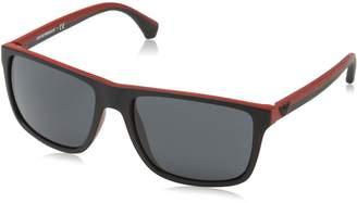 Emporio Armani Men's EA4033-532487-56 Rectangle Sunglasses