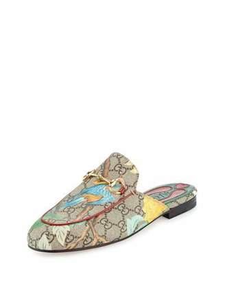 Gucci Princetown GG Canvas Horsebit Mule Slipper Flat, Multi