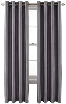 Royal Velvet Plaza Grommet-Top Lined Blackout 50WX63L Curtain Panel