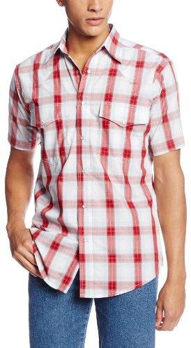 Wrangler Men's Wrinkle Resist Short Sleeve Shirt