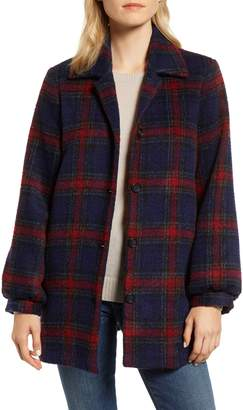 Velvet by Graham & Spencer Plaid Wool Blend Jacket