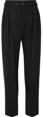 A.P.C. Joan Belted Twill Straight-leg Pants - Black