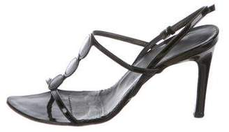Burberry Patent Leather Strap Sandals