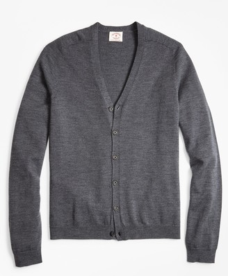 Brooks Brothers Merino Wool V-Neck Cardigan
