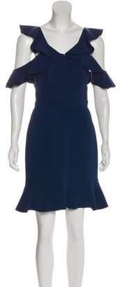 Rachel Zoe Cold-Shoulder Knee-Length Dress