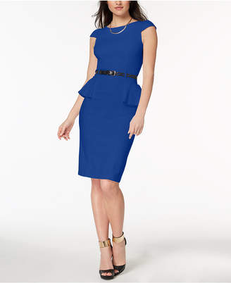 XOXO Juniors' Belted Peplum Dress
