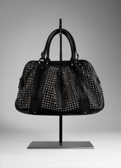 Large Studded Leather Tote Bag