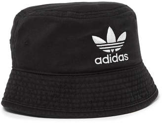 adidas Logo-embroidered Cotton Bucket Hat - Black 05870d9d4bd1