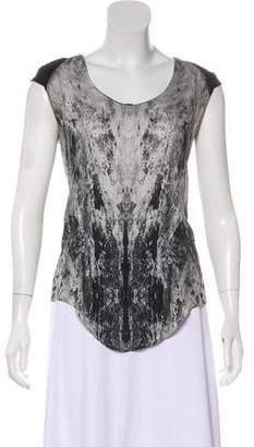 Helmut Lang Silk Short-Sleeve Top