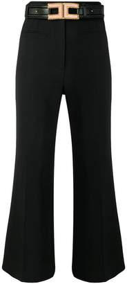Elisabetta Franchi belted cropped trousers
