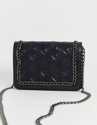 Asos Design DESIGN square quilt chain cross body bag
